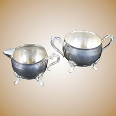 Silverplate Milk Jug & Sugar Bowl