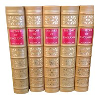 Thomas Babington Macaulay - History of England - 10 Vol Leather Bound Set
