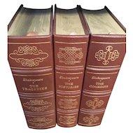 William Shakespeare - Tragedies, Histories & Comedies  - 3 Vol Leather Bound Set