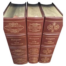 William Shakespeare - Tragedies, Histories & Comedies  - 3 Vol Leather Bound Set