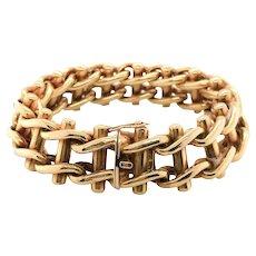 18 Karat Yellow Gold French Ladder Bracelet