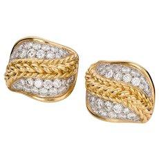 Charles Turi 3.00 Carat Diamond Earclips