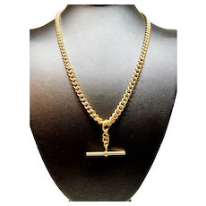 9 Karat Yellow Gold Vintage Fob Watch Chain