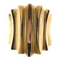 14 Karat Yellow Gold Textured Wave Dress Ring