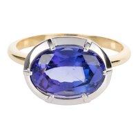 3.90 Carat Tanzanite Vintage Style Dress Ring