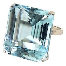 H Stern Aquamarine & Platinum Cocktail Ring