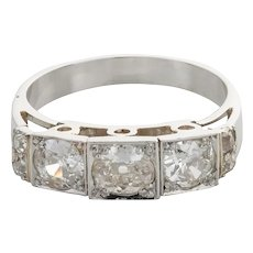 1.15 Carat Diamond Platinum Eternity Band Ring
