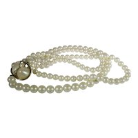 Vintage Givenchy Faux Pearl Multi-strand Necklace
