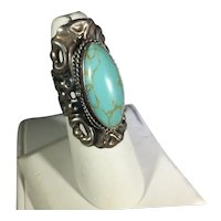 Poison Ring - Mexican Sterling and Faux Turquoise