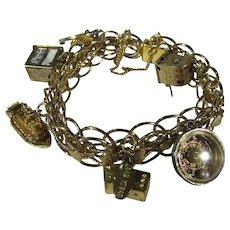 Monet Las Vegas Double Link Charm Bracelet