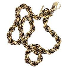 Anne Klein Large Spiral Link Goldtone Chain Necklace