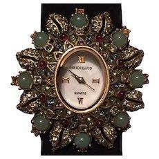 Heidi Daus Jewel-Encrusted Sunburst Watch