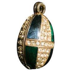 Swarovski Faberge-Style Enamel Egg Pendant