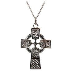 Sterling Celtic Cross with Chain