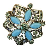 Vintage Heidi Daus Jewel Encrusted Ring