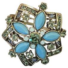 Vintage Heidi Daus Jewel Encrusted Ring