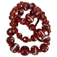 Glass Bead Necklace - Replica Old Roman Beads
