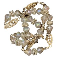 Delicate Iridescent Beaded Necklace