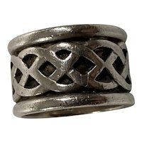 Large Man's Sterling Celtic Ring