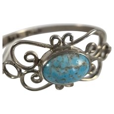 Sterling and Turquoise Bracelet by Art Plata Mexico