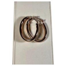 Milor Oval Hoop Earrings in Bronze