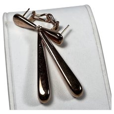 Modernist Drop Earrings in Italian Vermeil