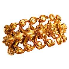 Elegant 1940s Retro Rose Gold Link Bracelet