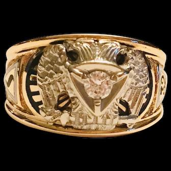 1950s Vintage Mens Diamond Ring