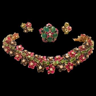 Magnificent Gemstone Set -Bracelet, Earrings & Ring