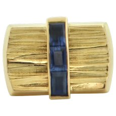 Paash Sapphire 18K Yellow Gold Tie Pin