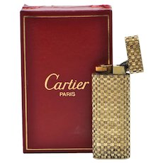 Vintage Cartier 18K Yellow Gold Lighter