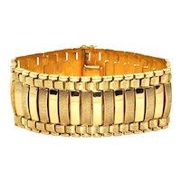 18K Yellow Gold Vintage European 1940's Flexible Link Bracelet