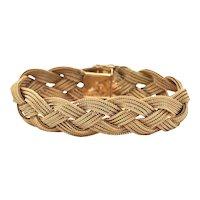 Vintage Gubelin braided 18K Yellow Gold Bracelet