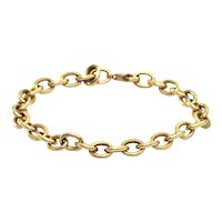 Vintage 18K Yellow Gold Chain Link Bracelet