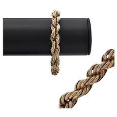 Vintage Gold Rope Link Bracelet
