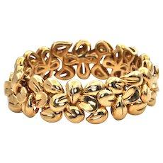 1960's Jean Vitau 18k Yellow Gold Bracelet