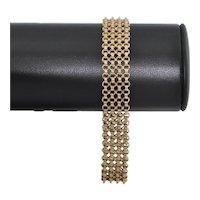 Vintage 9K Yellow Gold Mesh Link Bracelet