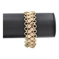 Vintage French 18K Yellow Gold Fancy Link Bracelet