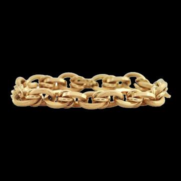 Vintage Italian 18K Yellow Gold Link Bracelet