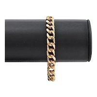 Vintage Solid 18K Yellow Gold Curb Link Bracelet