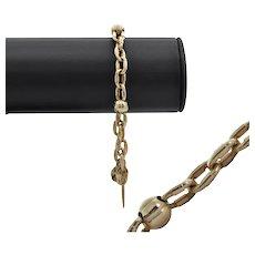 Vintage Gold Oval and Ball Link Bracelet