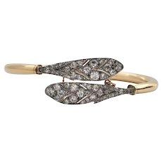 Vintage Diamond Snake Cuff Bracelet