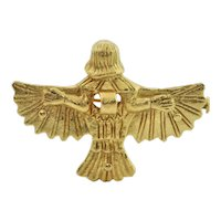 Solid 18K Yellow Gold 'Urart' Winged God