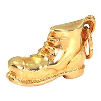 Vintage 18K Yellow Gold Boot Charm