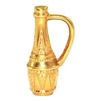 Vintage 18K Yellow Gold Wine Carafe Charm