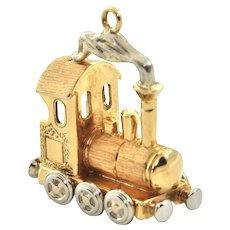 Vintage 18K Yellow and White Gold Train