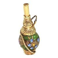 Vintage 14K Yellow Gold and Enamel Shisha Charm