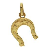 Italian 18K Yellow Gold Horseshoe Charm
