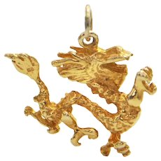 14K Tradition Chinese Yellow Gold Dragon Charm
