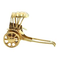14K Yellow Gold Rickshaw Charm